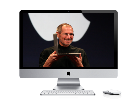 Steve Jobs inside an iMac