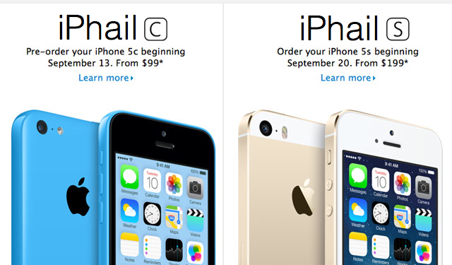 Apple's iPhone 5s and 5c