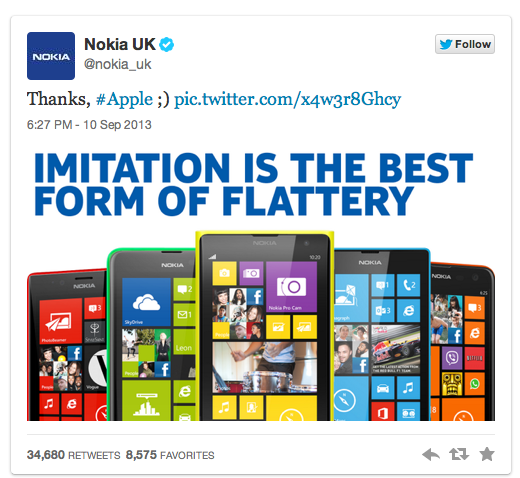 Nokia Apple's iPhone 5s