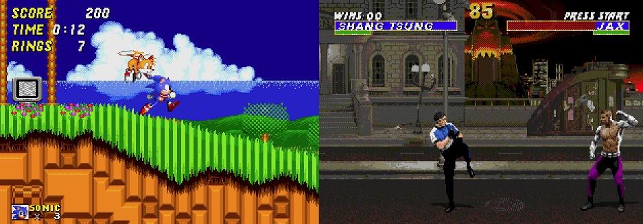 Sonic 2 & Mortal Kombat