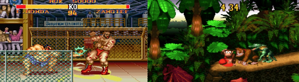 Street Fighter 2 Turbo & Donkey Kong Country