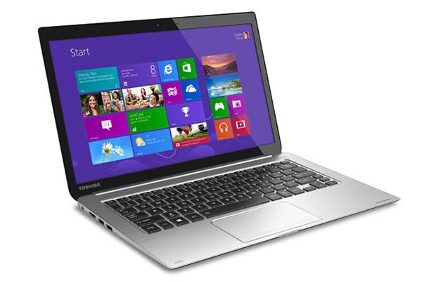 Toshiba Ultrabook laptop running Windows 8
