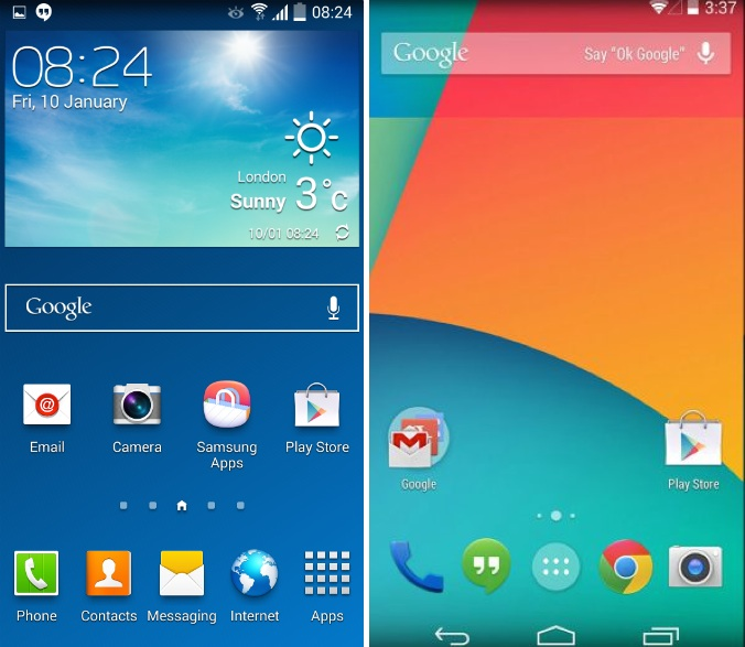 Stock Android vs Android with a custom UI
