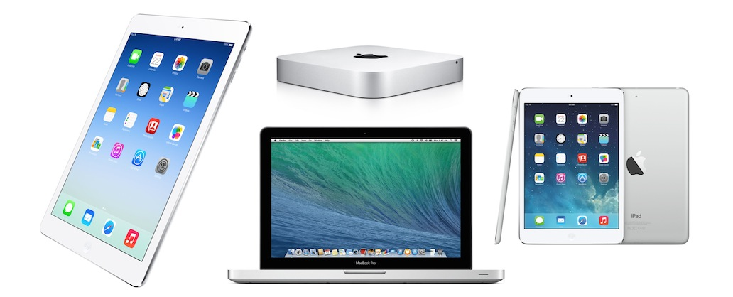Macbook pro, mac mini, ipad air 2, mac mini