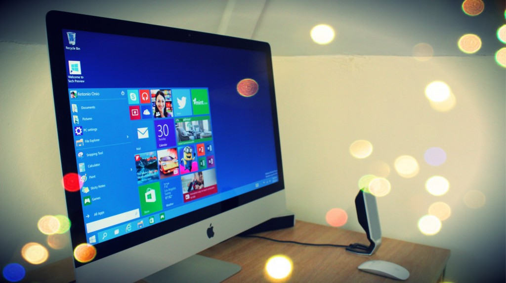 Windows 10 on the Apple iMac