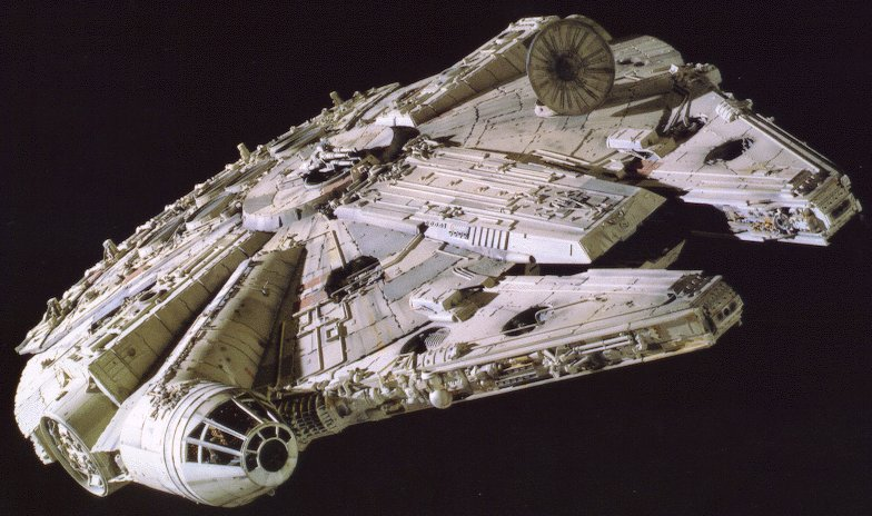 Spaceships: The Millenium Falcon from Star Wars