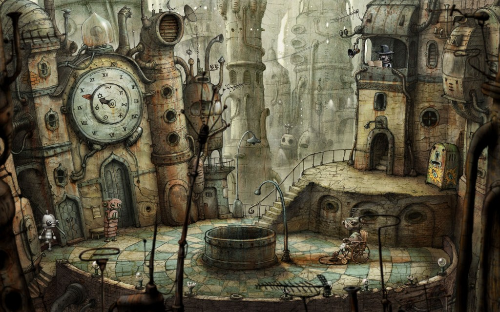 The Point and click game - Machinarium