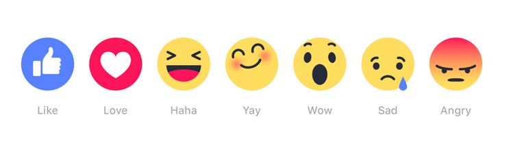 Emojis are the closest to a dislike button Facebook will provide